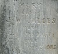 Grave of Mary Jacobs