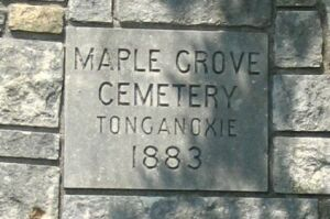 Maple Grove Cemetery Gate