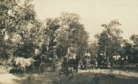 Needham wagon train in Kansas