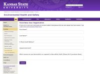 K-State training registration page